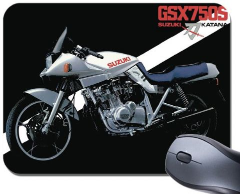 GSX750S Katana Motorcycle Mouse Mat. Vintage Brochure Motorbike Mouse Pad